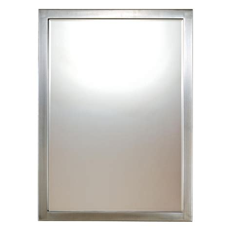 bathroom wall mirrors brushed nickel 33 inch brushed nickel paradox beveled mirror