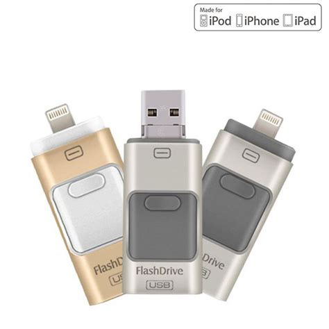 usb flash drive 8gb 16gb 32gb 64gb for iphone 7 7 plus 6 5 5s lightning to metal pen drive u