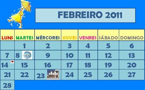 Calendario Febrero 2010 Cole De Colores Calendario Febrero