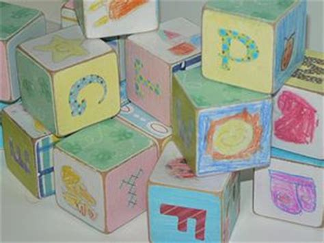 Handmade Baby Blocks - baby shower crafts