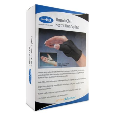 comfort cool arthritis thumb splint comfort cool thumb splint cmc restriction wrap left