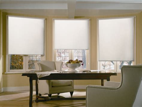 Roller Shade Traditional Dining Room Yellow White Dining Room Blinds