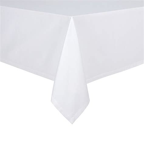 bed bath beyond tablecloths buy bistro 90 inch round tablecloth in white from bed bath