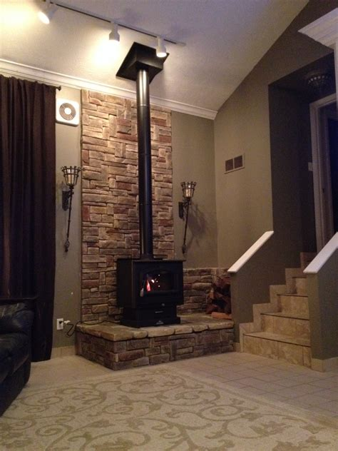 free standing wood burning stove home garden