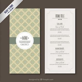 italian menu vectors photos and psd files free download