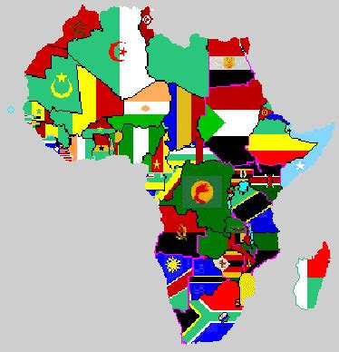 africa map flags best photos of africa flag map africa map with flags