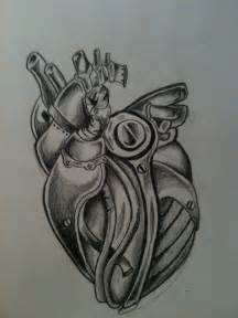 biomechanical heart tattoo mechanical by spudfurfy on deviantart