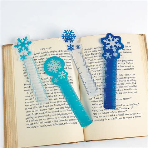 printable snowflake bookmarks snowflake ruler bookmarks oriental trading