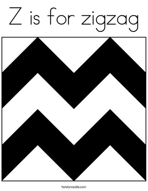 coloring pages for zigzag z is for zigzag coloring page twisty noodle
