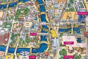 san antonio riverwalk map alamo plaza map