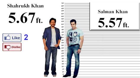 Shah Rukh Khan Height Comparison wtih 35 Stars - YouTube