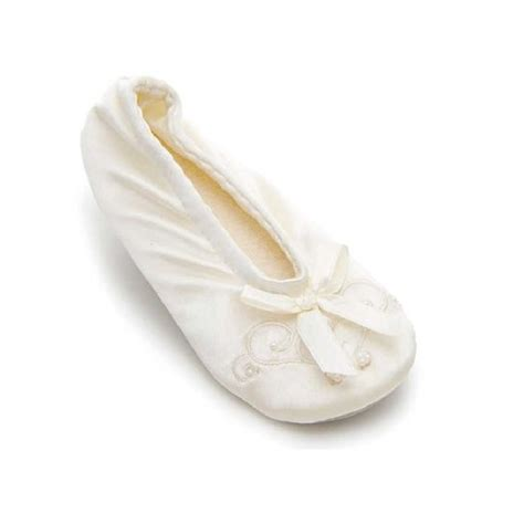 isotoner satin ballerina slippers isotoner satin pearl ballerina slipperskids world shoes