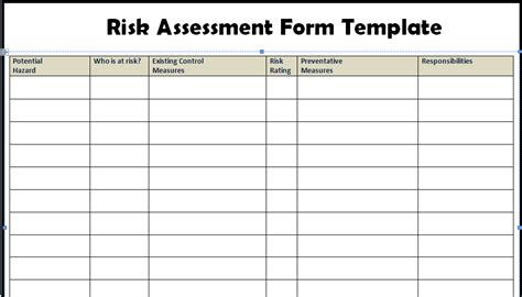 Risk Assessment Form Templates In Word Excel Project Management Excel Templates Risk Assessment Matrix Template Excel