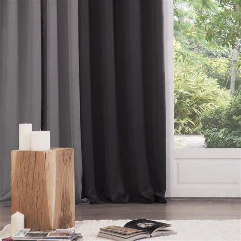 Rideaux Noir Occultant by Rideau Occultant 140x260cm Noir