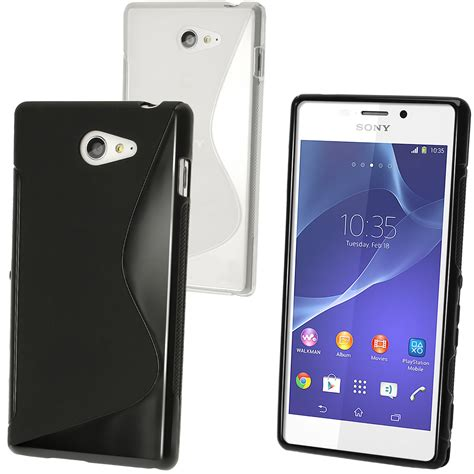 Sony Xperia M2 Casing Cover Kasing igadgitz s line tpu gel for sony xperia m2 d2303 d2305 d2306 screen protector various