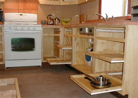 Straw Bale House: Kitchen Cabinets and Counters