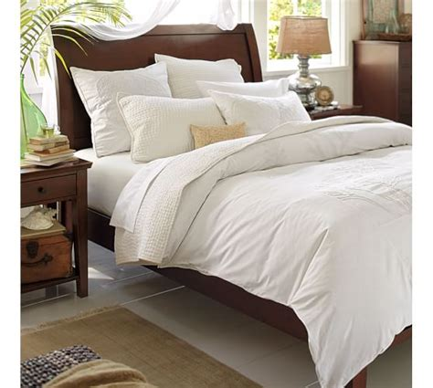 sleigh bed comforter set valencia ii sleigh bed dresser set pottery barn