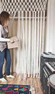 How To Make Your Own Kitchen Curtains Make Your Own Macrame Curtain A Beautiful Mess