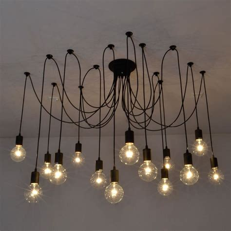 Diy Ceiling Lights Vintage Edison Industrial Style Chandelier Pendant Lights Retro Diy Ceiling L Ebay