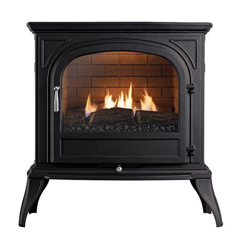 ekofires 6010 flueless gas stove in black with plain door