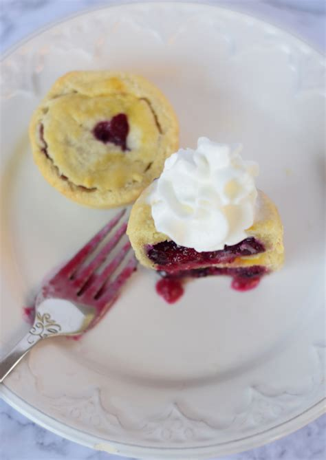 The Secret Lives Of Pies mini cranberry blueberry pies