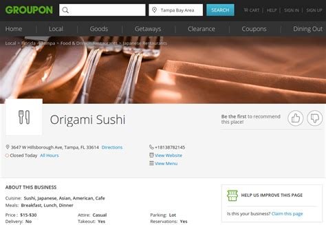 Origami Sushi - you don t need yelp when you groupon