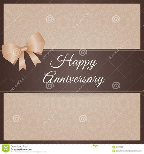 Anniversary Greeting Card Template by Happy Anniversary Stock Vector Image 61508059