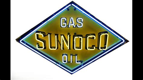 sunoco lighted signs for sale sunoco gas and oil neon sign sspn 70x48 m292 kissimmee