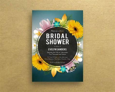summer themed bridal shower invitations bridal shower invitations sunflower bridal shower