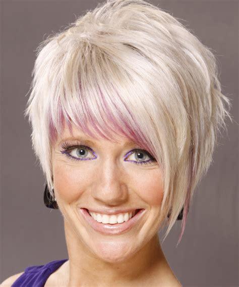 short straight alternative hairstyle light blonde white