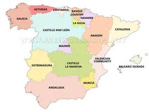 map of spain and regions 17 regions of spain pictures to pin on pinsdaddy