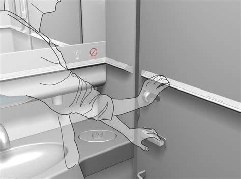 home design for visually impaired braillewise aircraft toilet making air travel easier for