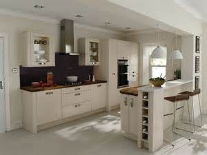 Kitchens With Breakfast Bar Designs Porter Beige Cheap Kitchens Ireland Fitted Kitchens