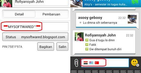 membuat logo bendera di bbm cara membuat icon bendera di status dan chat bbm android