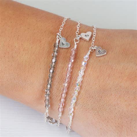 Handmade Chain Bracelets - handmade swarovski and sterling silver chain bracelet