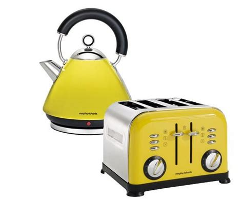 yellow kitchen appliances buy morphy richards 43287 pyramid accents cordless kettle