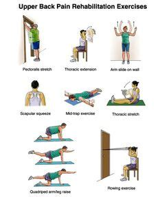 photo montage of four back exercises health beauty pinterest