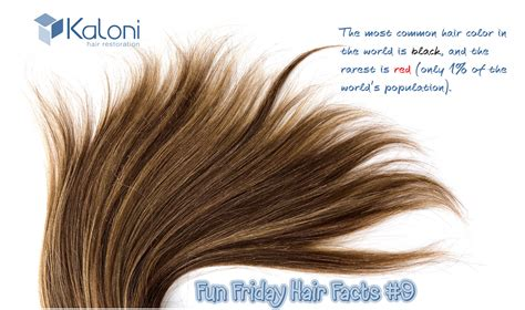 most common colors friday hair fact 9 the most common hair color in the