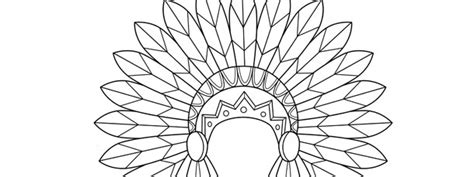 indian headdress template large