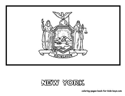 New York Flag Coloring Page new york state flag kozgec