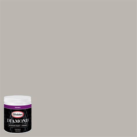 glidden 8 oz hdgcn50 candlestick silver eggshell interior paint with primer tester