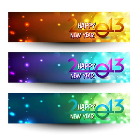 free vector new year banner 2013 happy new year theme banner vector 04 vector banner