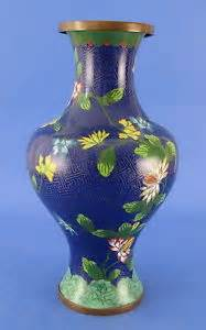 Chinese Brass Vases Antique Antique Chinese Cloisonne Vase Enamel Floral Design Brass