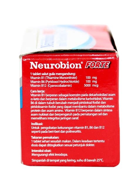 Neurobion Forte 10 Tablet neurobion forte vitamin neurotropik 10 s str klikindomaret