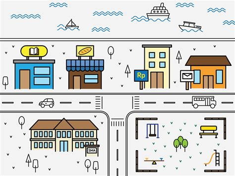 simple map simple city map on behance