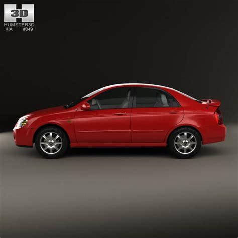 Kia Sedan Models Kia Cerato Spectra Sedan 2004 3d Model Hum3d