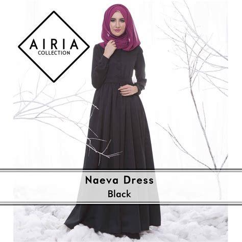 Gamis Rafanda naeva black baju muslim gamis modern