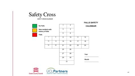 safety calendar template involving care homes in think kidneys