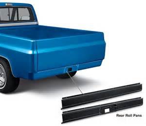 rear roll pans 1973 87 chevy truck 1973 87 gmc truck
