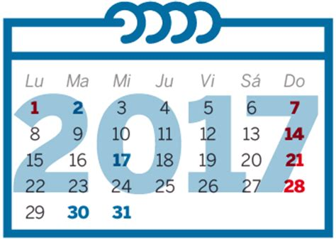 Calendario Actual 2017 El Calendario Laboral De 2017 Ya Es Oficial Nueve